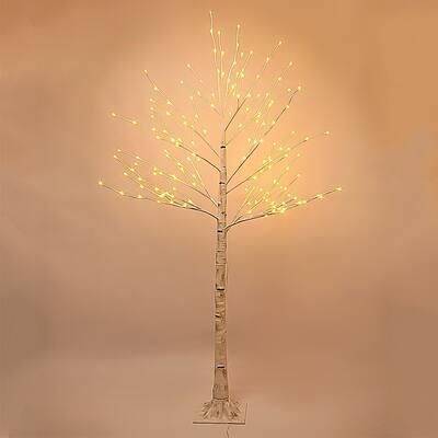 Pre-lit Birch LED 7-foot Decorative Tree - N/A