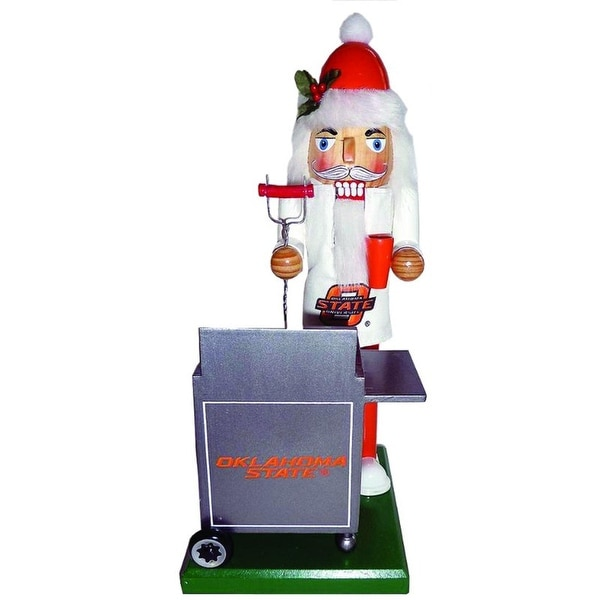 "12"" NCAA Oklahoma State Cowboys Sports Tailgating Wooden Christmas Nutcracker"