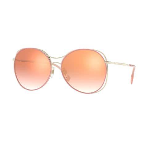 Burberry BE3105 11096F 60 Light Gold/pink Woman Round Sunglasses