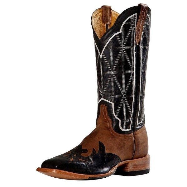 Cinch Western Boots Mens Stainglass Square Wingtip Crazy Goat