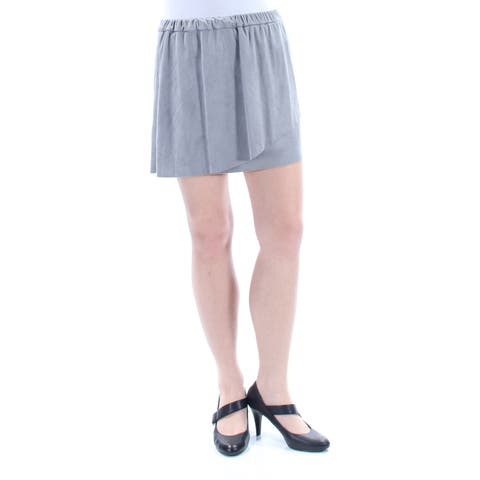 KENSIE Womens Gray Faux Suede Mini A-Line Skirt Size: M
