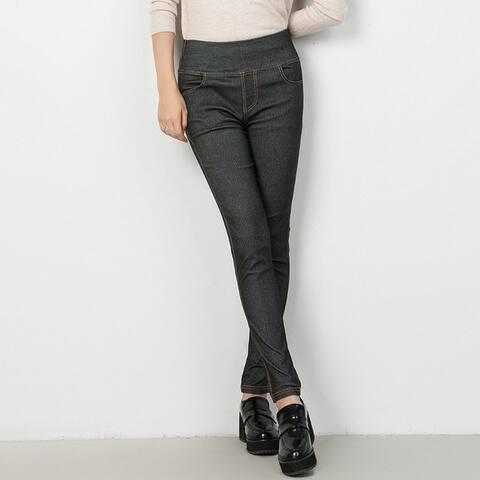 Imitation Jeans Tight-Fitting Pants High Waist Pencil Pants