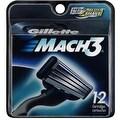 Gillette MACH3 Cartridges 12 Each - Thumbnail 0