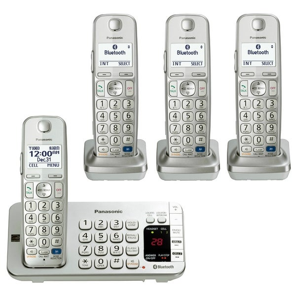 official photos 69cf9 b447a Shop Panasonic Link2Cell Bluetooth KX-TGE274S 4 Handsets Corldess ...