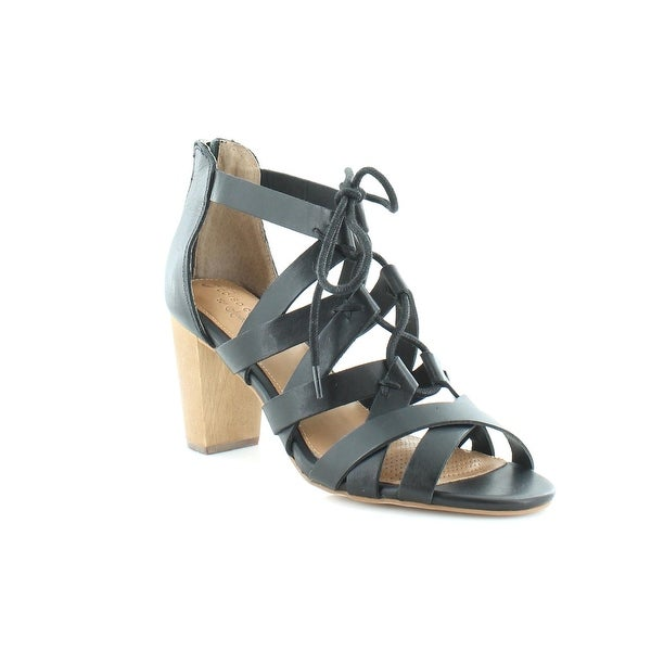 Corso Como Gorgi Lace up Women's Heels Black - 6.5
