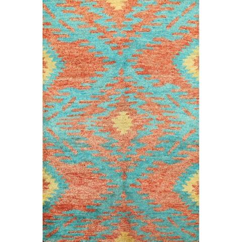 """Modern Moroccan Oriental Wool Area Rug Handmade Bedroom Carpet - 5'4"""" x 7'9"""""""