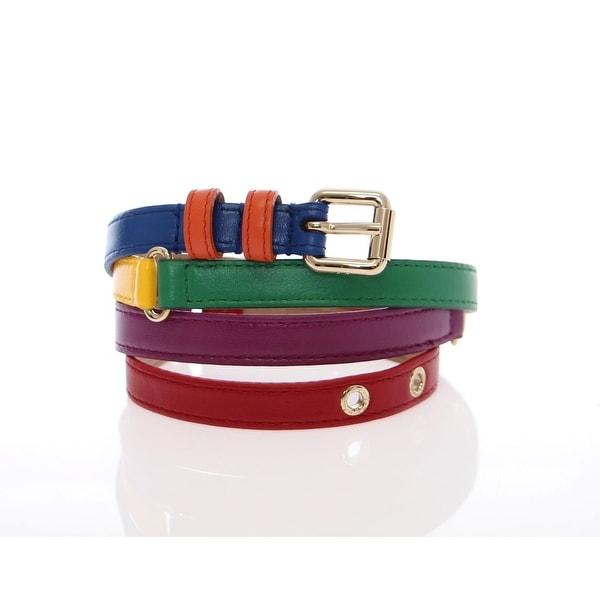 Dolce & Gabbana Dolce & Gabbana Multicolor leather logo belt