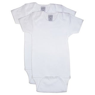 Bambini Baby Unisex White Cotton Interlock 2-Pack Bodysuits