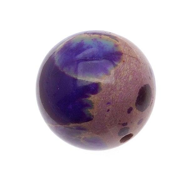 Purple Impression Jasper (Dyed) Round Gemstone Beads 12mm (6 Beads)