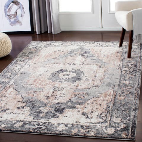 Amalia Distressed Medallion Area Rug