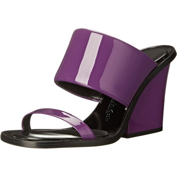 Calvin Klein NEW Purple Women's Shoes Size 10M Cody Patent Slides
