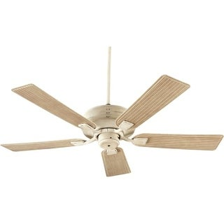 "Quorum International Q139525 Marsden 52"" 5 Blade Hanging Indoor / Outdoor Ceiling Fan with Reversible Motor and Blades"