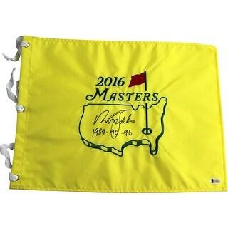 Nick Faldo 2016 Augusta National Masters Flag 89 90 96Inscription Beckett