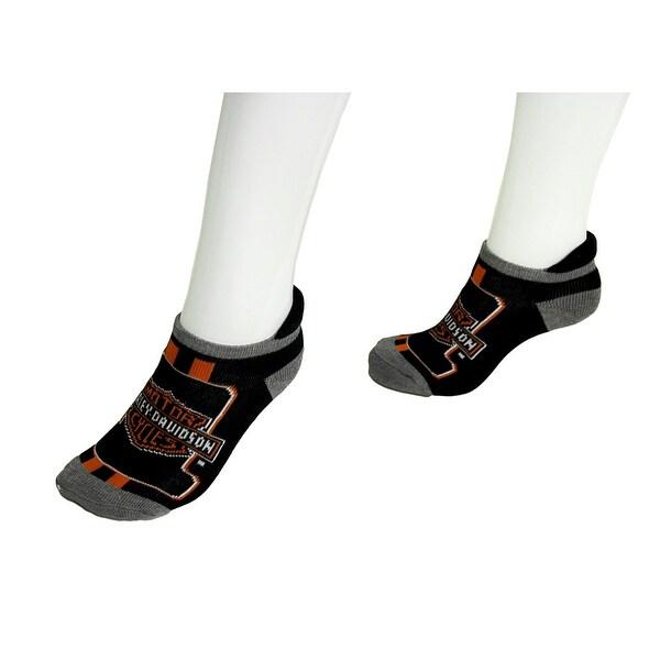 Harley Davidson 2 Pair Pack Ladies Athletic Ankle Socks