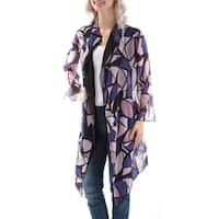 ANNE KLEIN Womens Purple Bell Sleeve Open Top  Size: 4