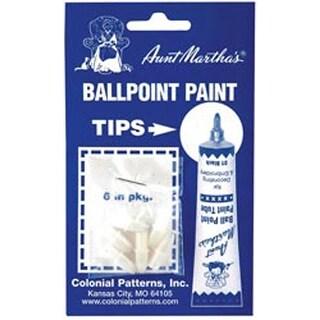 Aunt Martha's Ballpoint Paint Tubes Replacement Tips-6/Pkg