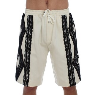 Dolce & Gabbana White Black Torero Above Knees Shorts