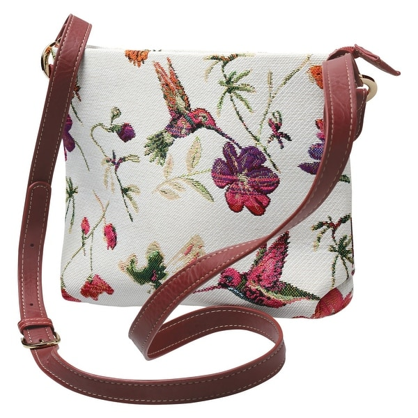 fff1c95777cd Shop Side Saddle Women s Crossbody Bag - Hummingbird Garden Tapestry Print  Purse - One Size - On Sale - Free Shipping On Orders Over  45 - Overstock -  ...