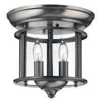 Hinkley Lighting H3472 2 Light Indoor Semi-Flush Ceiling Fixture from the Gentry Collection