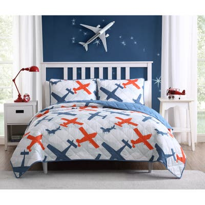 Asher Home Kid's Airplane Quilt Set