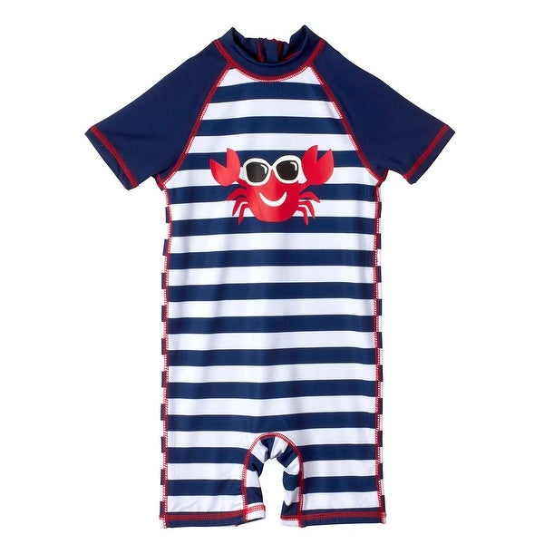 62938f5ff Shop Wippette Baby Boys Stripes Crab with Sunglasses Bathing Suit ...