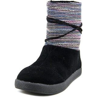 Toms Nepal Women Round Toe Canvas Mid Calf Boot