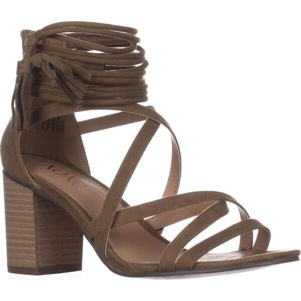 XOXO Elle Block-Heel Ankle-Strap Sandals, Olive