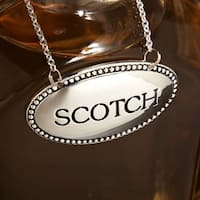 Silver-Plated Liquor Tags, Set of 4