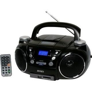 JENSEN JENCD750B Jensen CD750 Portable AM/FM Stereo CD Player with MP3 Encoder/Player