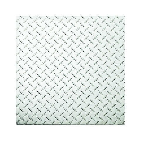 "Stanley 316356 Diamond Plate Sheet, 0.63"" T, 24"" L x 24"" W, Polished Aluminum"