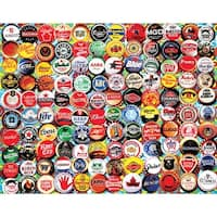 "Jigsaw Puzzle 550 Pieces 18""X24""-Beer Bottle Caps"