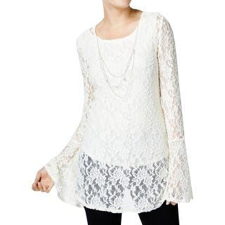 NY Collection Womens Tunic Top Lace Bell Sleeves|https://ak1.ostkcdn.com/images/products/is/images/direct/e56534ef8b5b2c7f70d258897636bae5bb0e3c54/NY-Collection-Womens-Tunic-Top-Lace-Bell-Sleeves.jpg?impolicy=medium