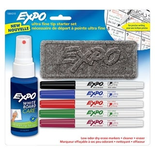 EXPO Dry Erase Markers Starter Set, Assorted Colors, Ultra Fine, 7 Pieces
