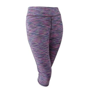 Ideology Women's Plus Size Space-Dyed Cropped Leggings (3X, Multi Space Dye) - multi space dye