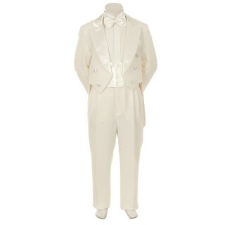 Kids Dream Ivory Formal 5 pcs Tail Special Occasion Boys Tuxedo 10-20