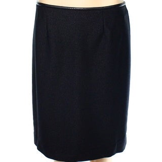 Calvin Klein NEW Black Women's Size 12P Petite Stretch Knit Skirt