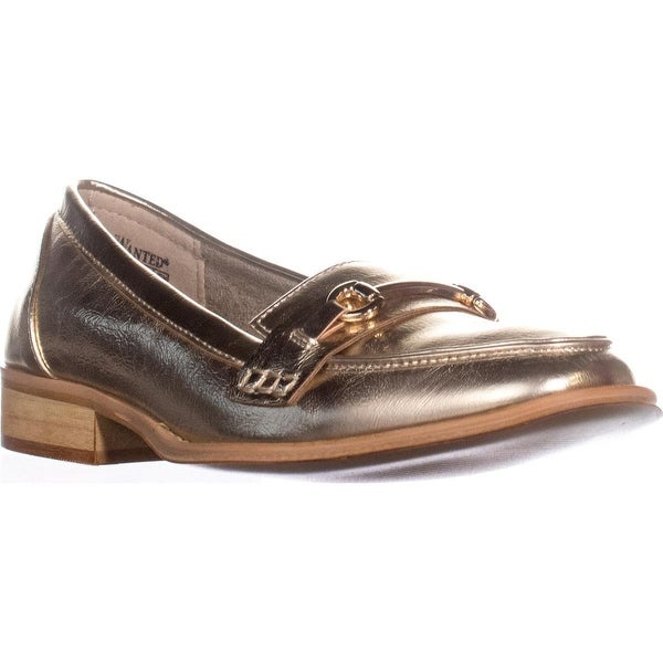 Wanted Cititime Loafers, Gold - 7.5 us / 37.5 eu