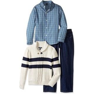 Nautica Boys 2T-4T 3-Piece Sweater Pant Set