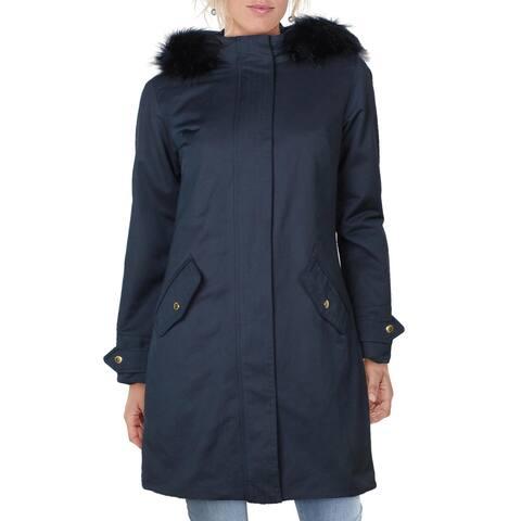 Barbour Womens Parka Coat Anorak Midi - Navy - 4
