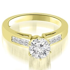0.80 cttw. 14K Yellow Gold Channel Set Princess Cut Diamond Engagement Ring