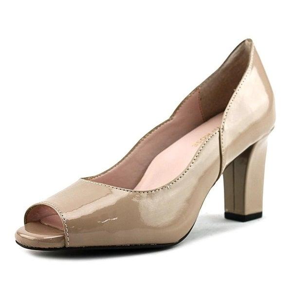 Taryn Rose Francis Women Peep-Toe Synthetic Nude Heels