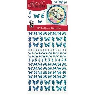 Dazzles Stickers-Jewel Butterflies-Teal