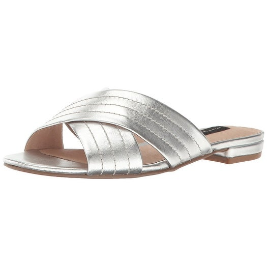 STEVEN by Steve Madden Womens farley Open Toe Casual Slide Sandals
