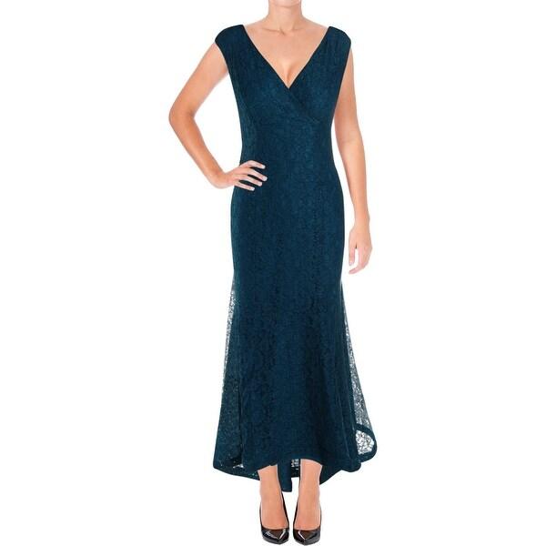 Lauren Ralph Lauren Womens Alvada Evening Dress Lace Hi-Low