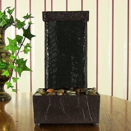 Sunnydaze Lighted Stream Tabletop Fountain with LED Lights, 10 Inch Tall
