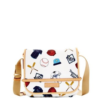 Dooney & Bourke MLB Rays Small Messenger (Introduced by Dooney & Bourke at $218 in Oct 2014) - White