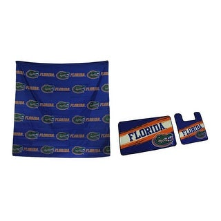NCAA University of Florida UF 3 Piece Bath Accessory Set - Blue