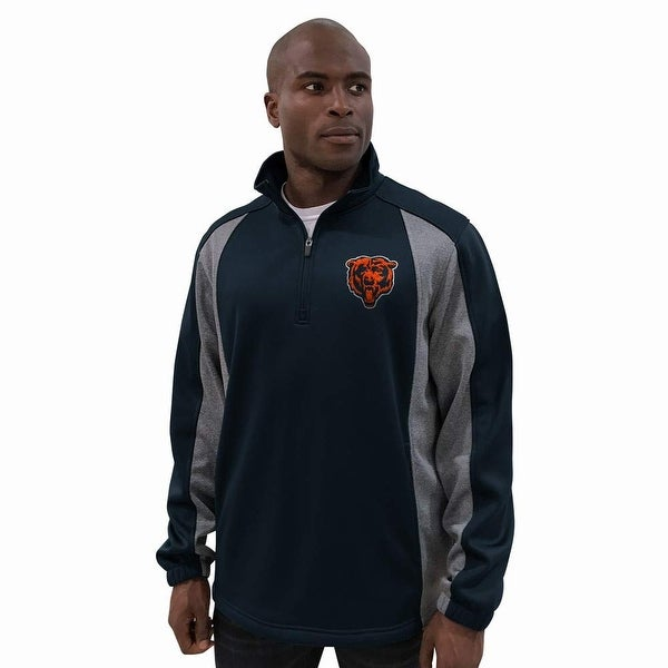 Chicago Bears 1/4 Zip Polyester Bonded Fleece Jacket