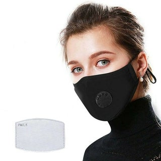 Link to Reusable Washable Cloth Face Mask with Air Port and 2 PM2.5 Filters Similar Items in Scarves & Wraps
