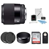 Sigma 30mm f/1.4 DC DN Contemporary Prime Lens for Sony E-Mount Bundle